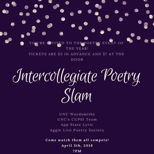 College Clash Slam Competition - UNC English & Comparative Literature