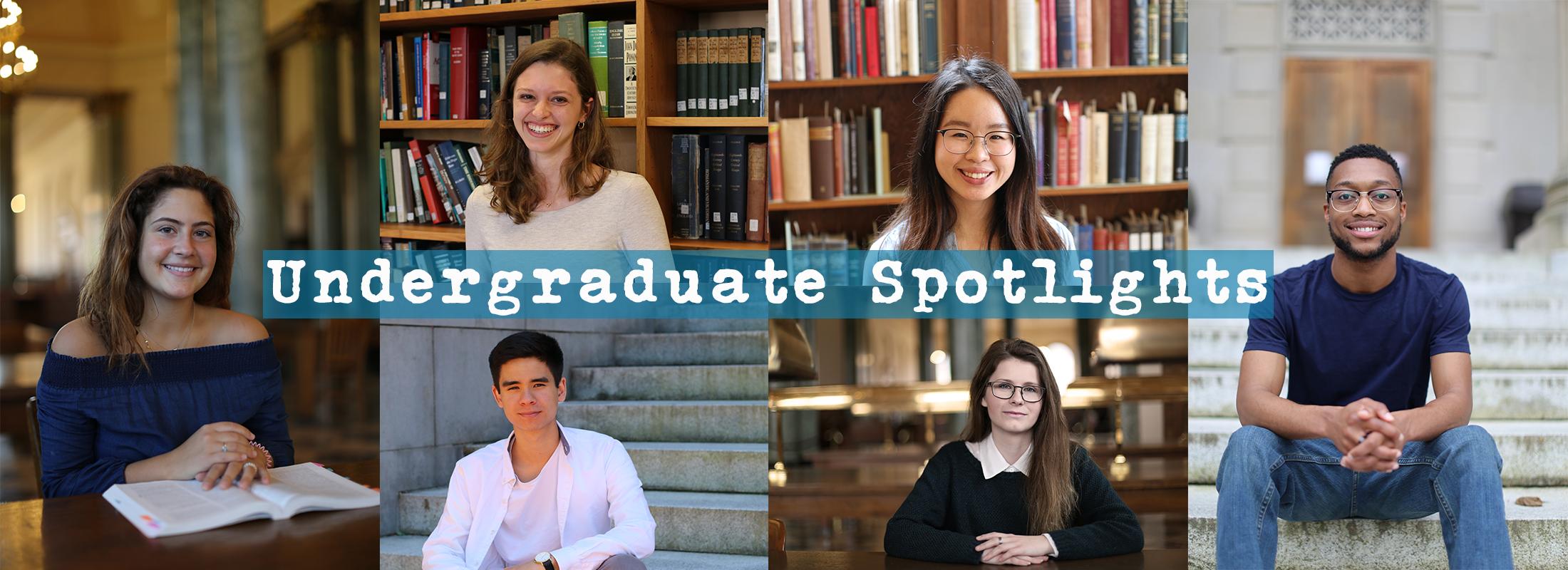 collage of undergraduate portraits