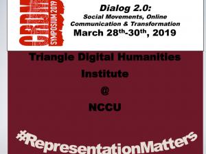 """Poster for CRDM Symposium 2019, """"Dialog 2.0"""""""