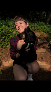 Photo of Cecelia Tucker and her dog