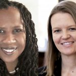 photo collage of Dr. Rebecka Rutledge Fisher and Dr. Courtney Rivard